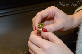 Ring in Gold mit Peridot