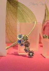 Blütencollier in Silber mit Email