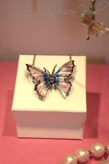 Schmetterling Broschanhänger mit Amethyst